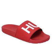 Slides, breiter Riemen, Logo-Prägung