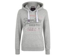 Sweatshirt, Kapuze, Kängurutasche, meliert, Metallic-Print