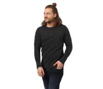 Langarmshirt, Slim Fit, Henley-Ausschnitt, Waffel-Struktur