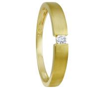 Ring mit Diamanten  375, zus. ca. 0.06 ct.