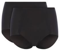 Shape-Pants, 2er-Set, Uni, sehr hoher Bund