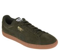 Sneaker, Leder, Schnürung, uni