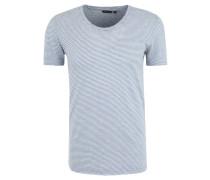 T-Shirt, gestreift, Neppy-Jersey, offene Saumkanten