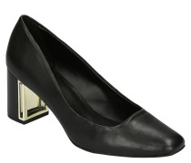 "Pumps ""Gigi"", Leder, Blockabsatz, Metall-Details"