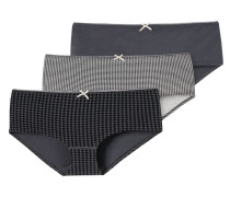 Panty, gemustert, mehrfarbig, 3er-Pack