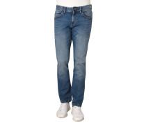 "Jeans ""Houston"", Straight Fit, Waschung, Falten-Details"