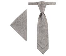 Krawatte & Einstecktuch, 2-tlg. Set, strukturiert
