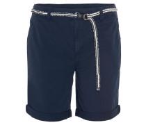 Shorts, geflochtener Gürtel, Baumwolle, umgeschlagener Saum