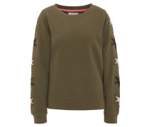 Sweatshirt, Sterne-Stickereien, Rundhals