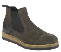 Chelsea Boots, Veloursleder, breite Sohle