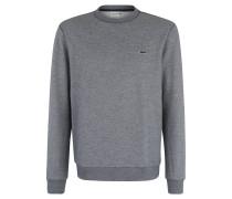 Sweatshirt, meliert, Logo-Stickerei