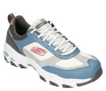 XL-Sneaker, Leder-Partien, Mesh, gepolsterte Sohle, Schimmer