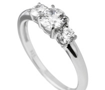 Ring, Sterling  925, -Zirkonia, zus. 1,0 ct