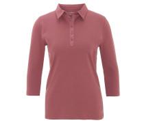 Shirt, reine Bio-Baumwolle, uni, 3/4-Armlänge, Polo-Kragen