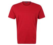 T-Shirt, Piqué, Brusttasche, Schlitze, Logo-Stickerei