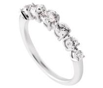 Ring  mit weißem -Zirkonia ct 1,02