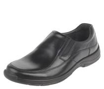 Slipper, Leder, Elastik-Einsätze, Komfort-Fußbett