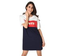 Kleid, Logo-Print, Blockstreifen, Baumwolle
