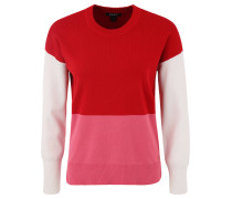 Pullover, Strick, Colour-Blocking, Saumschlitz
