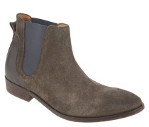 Chelsea Boots, Veloursleder, Used-Look