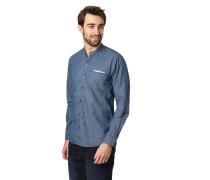 Freizeithemd, geometrisches Allover-Muster, paspelierte Brusttasche