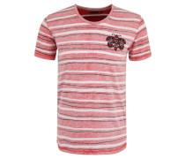 T-Shirt, Baumwolle, gestreift, Perlen-Motiv