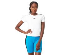 T-Shirt, Kontraststreifen, Logo-Print, Baumwoll-Stretch