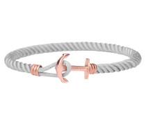 Ankerarmband PHREP Lite IP Roségold Nylon Grau PH-PHL-N-R-Gr-XS