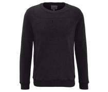 Sweatshirt, 3D-Logo-Print, elastischer Saum, Baumwolle