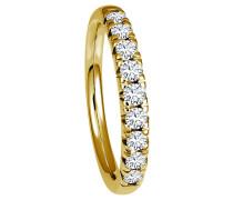 Ring 585 Gelb mit 9 Diamanten, zus. ca. 0,50 ct.