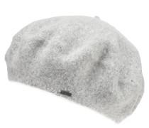 Mütze, Melange, Logo-Anhänger, Wolle