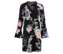 """Minikleid """"Lint"""", Kimono-Design, Print, V-Ausschnitt"""