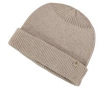 Mütze, Kaschmir-Anteil, Umschlag, Patch