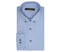 Businesshemd, Regular Fit, Button-Down-Kragen, Knopfleiste