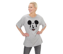 T-Shirt, Motiv-Print, Rundhalsausschnitt, gerader Saum