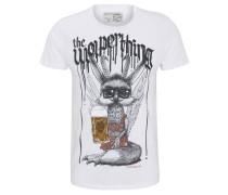T-Shirt, Front-Print, Kontrast-Nähte, Patch-Detail