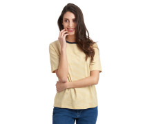 T-Shirt, reine Baumwolle, Halbarm, Ringel-Muster