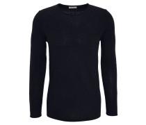 Pullover, Brusttasche, Used-Look, uni