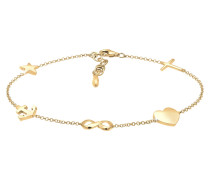 Armband Kreuz Herz Infinity Anker Stern Pendant 925 Silber