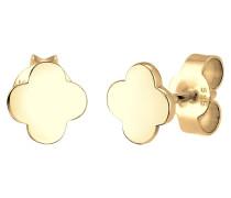 Ohrringe Kleeblatt Glücksbringer 585 Gelb