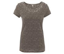 T-Shirt, Allover-Print, Ausbrenner-Effekt