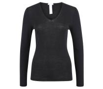 "Wäsche-Shirt ""Woolen Silk"", V-Neck, Langarm"
