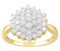 Ring Gelb 585 mit Diamanten, zus. ca. 1,00 ct