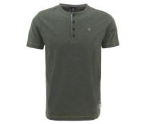 T-Shirt, Baumwolle, Henley-Ausschnitt, Flammgarn