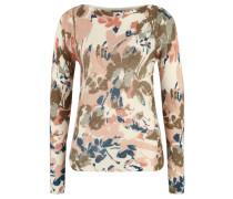 Pullover, Allover-Print, florales Design, weich