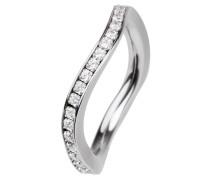 EDvita Ring, Edelstahl, Zirkonia R315.WH.53