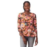 Blusenshirt, 3/4-Arm, florales Muster, Volants