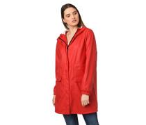 Regenmantel, Kapuze, aufgesetzte Taschen, innenliegender Kordelzug