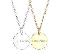 Halskette Partnerkette Friends Infinity Bi-color 925