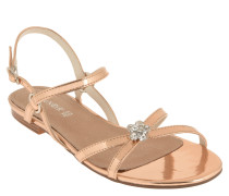 Sandalen, metallic, Strass